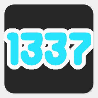 pegatina 1337 de la élite del leet
