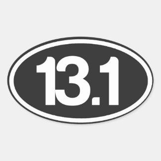 Pegatina 13,1 del negro (medio pegatina del