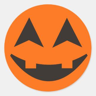 Pegatina 13 de la cara de la calabaza de Halloween