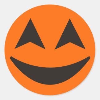Pegatina 15 de la cara de la calabaza de Halloween