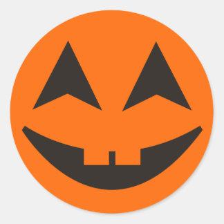 Pegatina 16 de la cara de la calabaza de Halloween