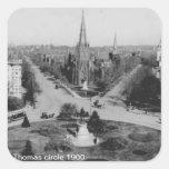 Pegatina 1900 del círculo de Thomas