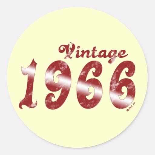 Pegatina 1966 del vintage