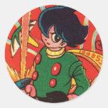 Pegatina 1 del estallido del japonés del vintage