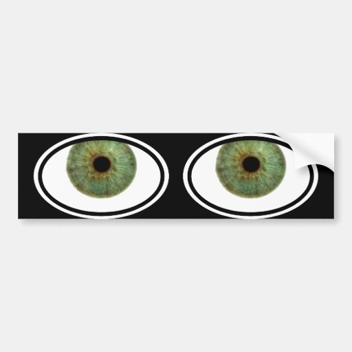 Pegatina 1 del ojo etiqueta de parachoque