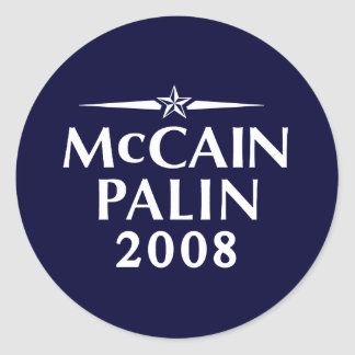 Pegatina 2008 de McCain Palin