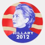 Pegatina 2012 de Hillary Clinton