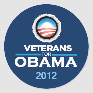 Pegatina 2012 de Obama