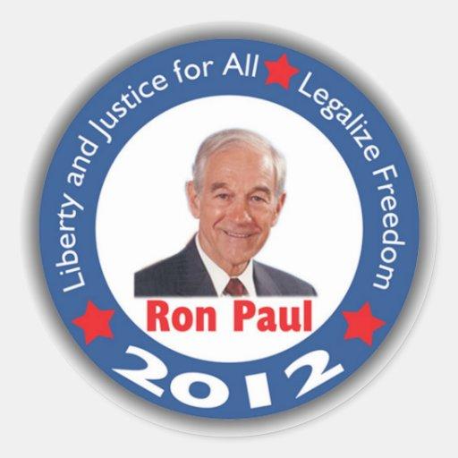 Pegatina 2012 de Ron Paul