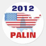 Pegatina 2012 de Sarah Palin