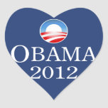 Pegatina 2012 del corazón de Barack Obama