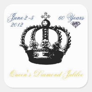 Pegatina 2012 del jubileo de diamante del Queens