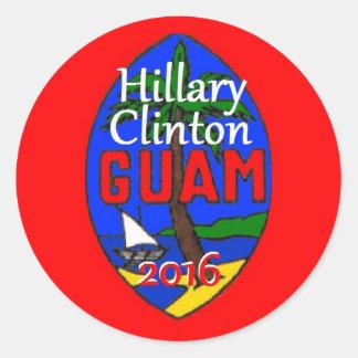 Pegatina 2016 de Clinton Guam
