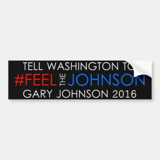 Pegatina 2016 de Gary Johnson del #feelthejohnson Pegatina Para Auto