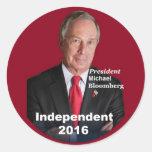 Pegatina 2016 de Michael Bloomberg