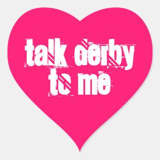 Pegatina 20-Pack: Charla Derby a mí corazón
