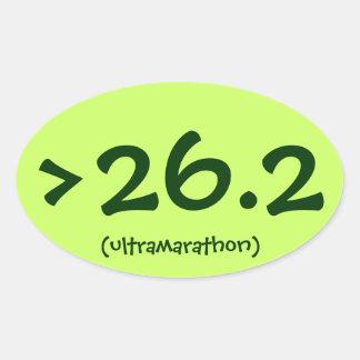 >pegatina 26,2 (del ultramarathon) pegatina ovalada