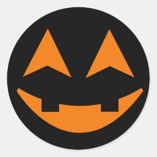 Pegatina 2 de la cara de la calabaza de Halloween