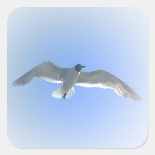 Pegatina 2 de la gaviota en vuelo