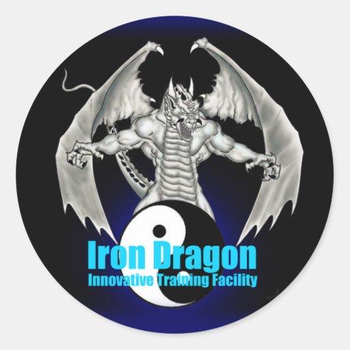 Pegatina 2 del dragón del hierro