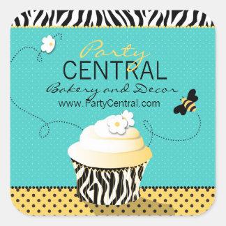 Pegatina 2 del negocio de la abeja del cumpleaños