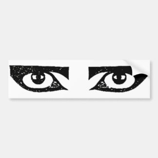 Pegatina 2 del ojo etiqueta de parachoque