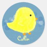Pegatina 369MyName del polluelo del bebé de Collin