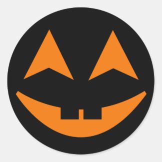 Pegatina 3 de la cara de la calabaza de Halloween