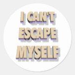 Pegatina 3D del escape mismo