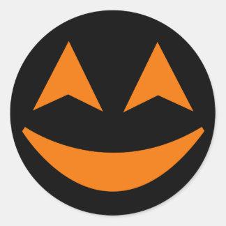 Pegatina 4 de la cara de la calabaza de Halloween