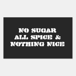 Pegatina 4-Pack: Ningún azúcar