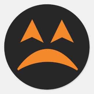 Pegatina 5 de la cara de la calabaza de Halloween