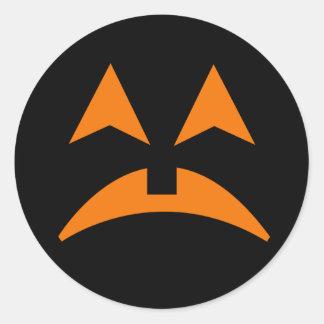 Pegatina 6 de la cara de la calabaza de Halloween