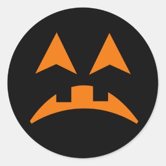 Pegatina 7 de la cara de la calabaza de Halloween