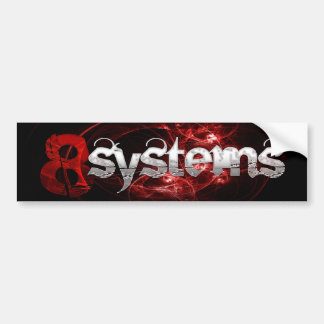 pegatina 8systems pegatina de parachoque