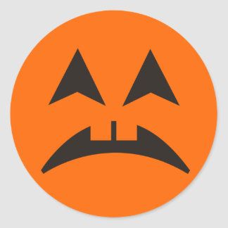 Pegatina 9 de la cara de la calabaza de Halloween
