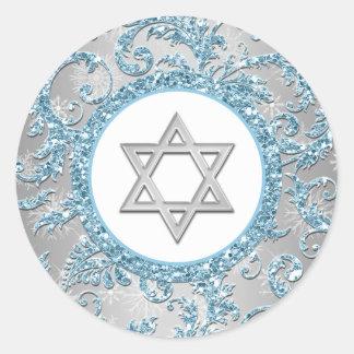 Pegatina 9 de Mitzvah del palo del damasco del