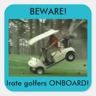 Pegatina a bordo de los golfistas furiosos