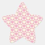 Pegatina a cuadros de la estrella del corazón