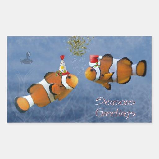 Pegatina a pescado del navidad