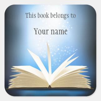 Pegatina abierto personalizado del Bookplate del