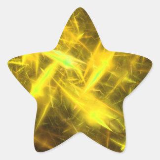 pegatina abstracto amarillo de aligeramiento de la
