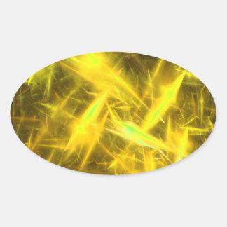 pegatina abstracto amarillo de aligeramiento del