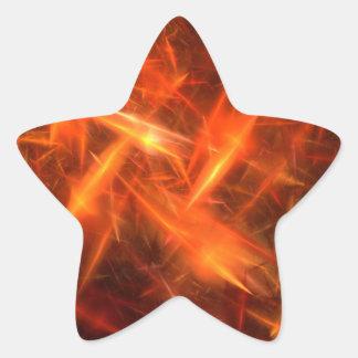 pegatina abstracto anaranjado de la estrella del