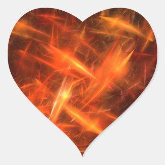 pegatina abstracto anaranjado del corazón del