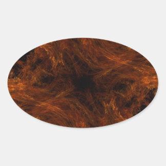 Pegatina abstracto anaranjado del óvalo del