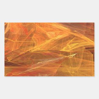 Pegatina abstracto anaranjado del rectángulo del