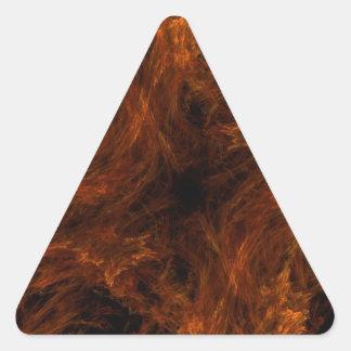 Pegatina abstracto anaranjado del triángulo del