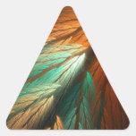 Pegatina abstracto anaranjado y verde del