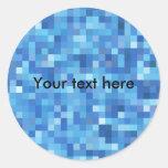 pegatina abstracto azul